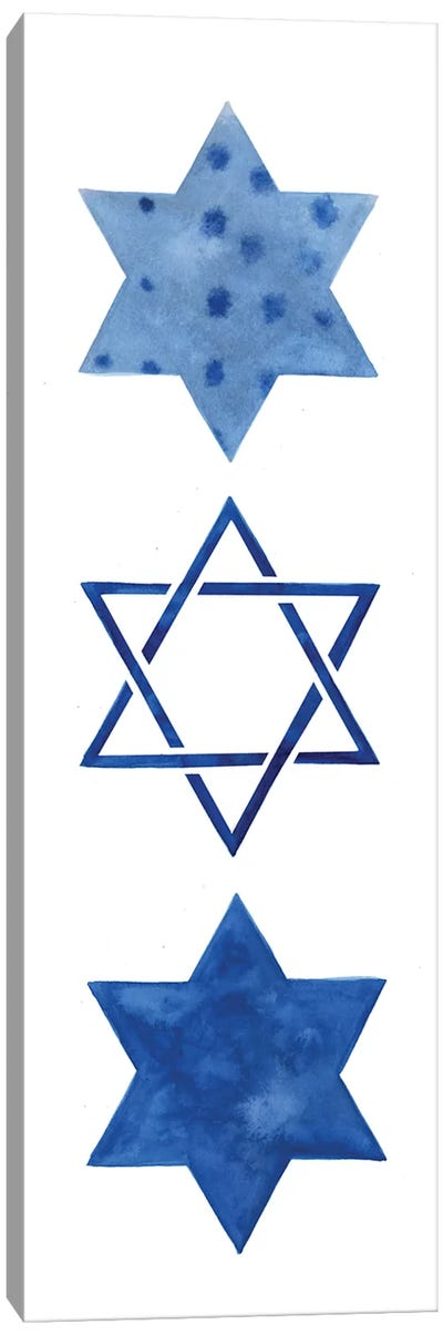 Indigo Hanukkah Collection B Canvas Art Print