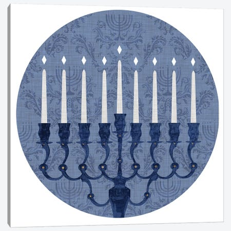 Sophisticated Hanukkah Collection C Canvas Print #VBO720} by Victoria Borges Canvas Wall Art