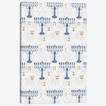 Sophisticated Hanukkah Collection E Canvas Print #VBO722} by Victoria Borges Canvas Wall Art
