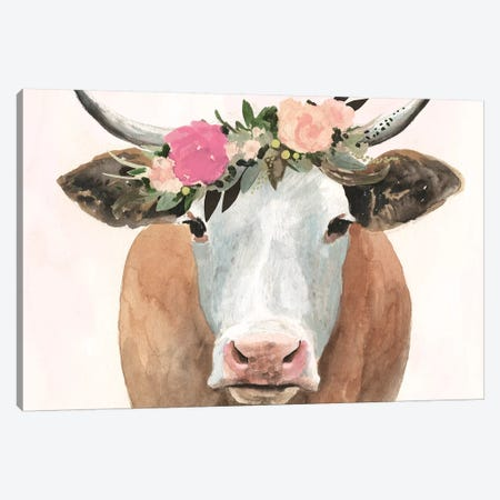 Spring on the Farm Collection A Canvas Print #VBO729} by Victoria Borges Canvas Artwork