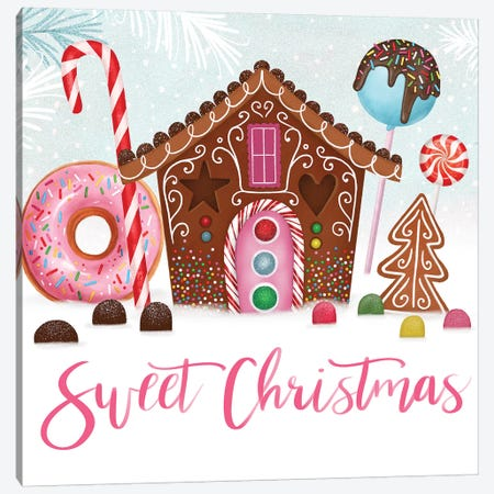 Sweet Holidays Collection A Canvas Print #VBO733} by Victoria Borges Canvas Art Print
