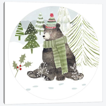 Woodland Christmas Collection C 3-Piece Canvas #VBO737} by Victoria Borges Canvas Art