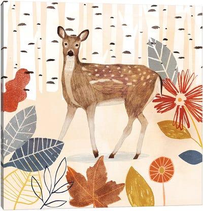 Cozy Autumn Woodland II Canvas Art Print