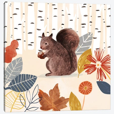 Cozy Autumn Woodland IV Canvas Print #VBO761} by Victoria Borges Canvas Wall Art