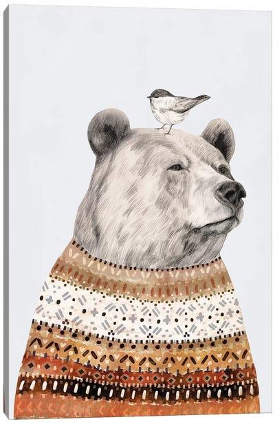 Fair Isle Bear I Canvas Art Print