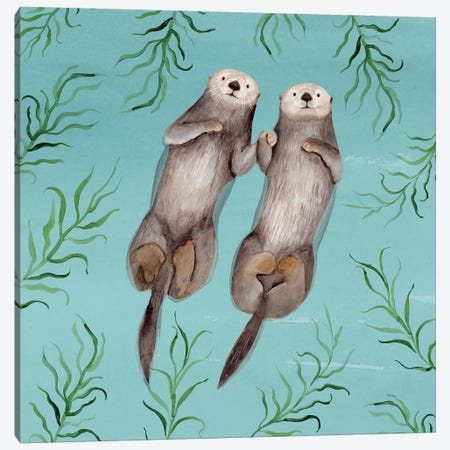 Otter's Paradise III Canvas Print #VBO781} by Victoria Borges Canvas Wall Art