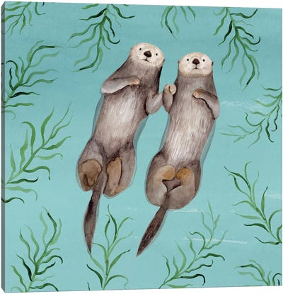 Otter's Paradise III Canvas Art Print