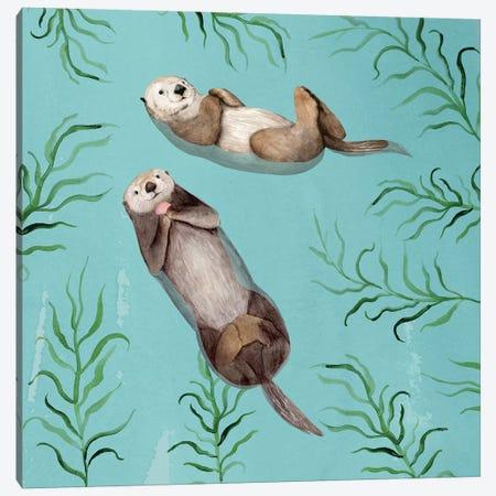 Otter's Paradise IV Canvas Print #VBO782} by Victoria Borges Canvas Artwork