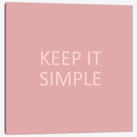Simple Sentiment IV Canvas Print #VBO796} by Victoria Borges Canvas Wall Art