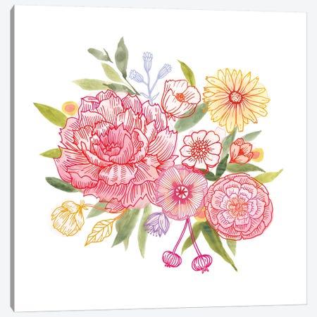 Pink Petals II Canvas Print #VBO80} by Victoria Borges Art Print
