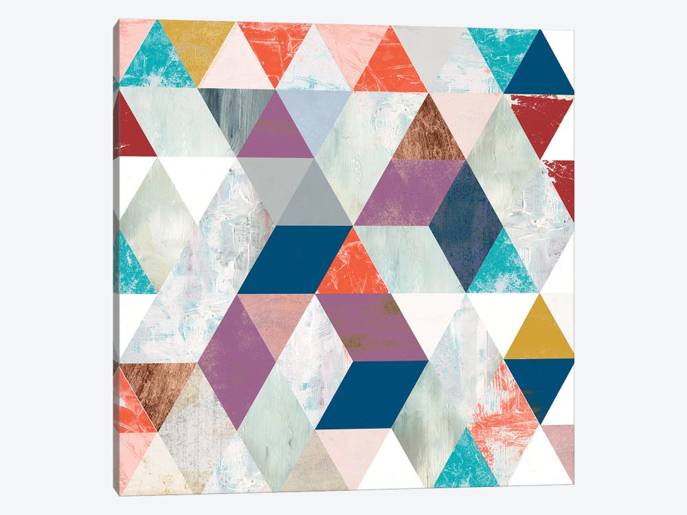 Bright Mosaic I by Victoria Borges 1-piece Canvas Art Print