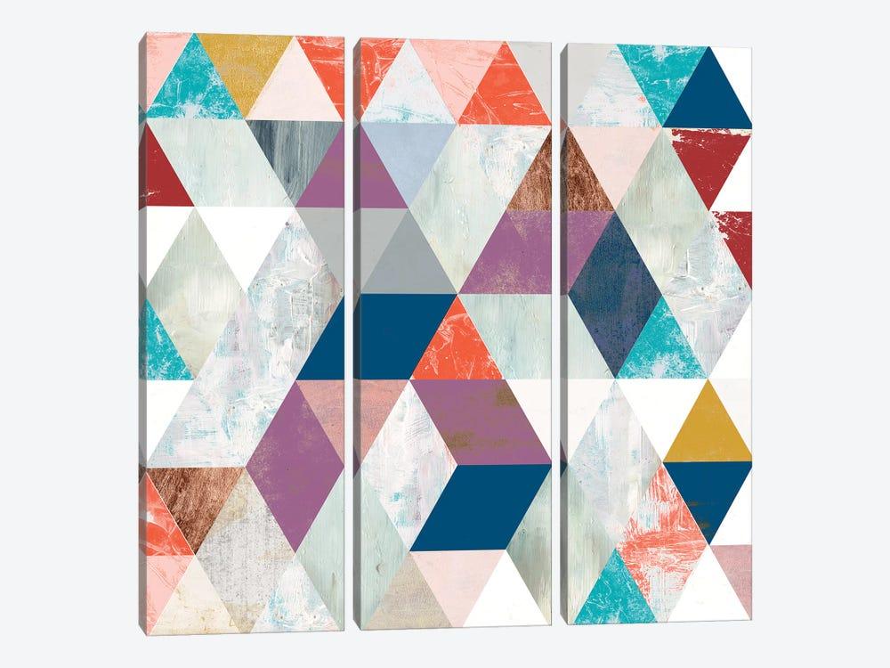 Bright Mosaic I by Victoria Borges 3-piece Canvas Art Print