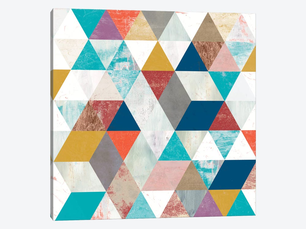 Bright Mosaic II by Victoria Borges 1-piece Canvas Art
