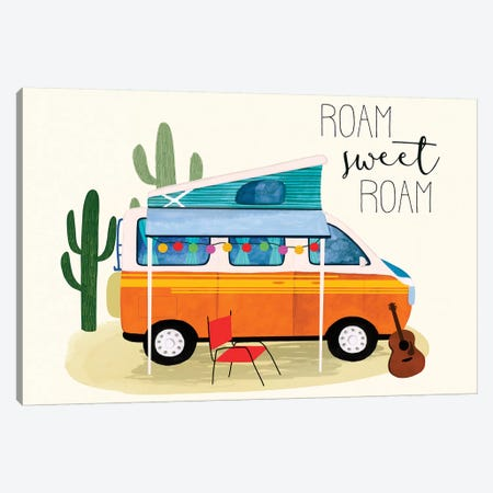 Roam Sweet Roam II Canvas Print #VBO838} by Victoria Borges Canvas Art