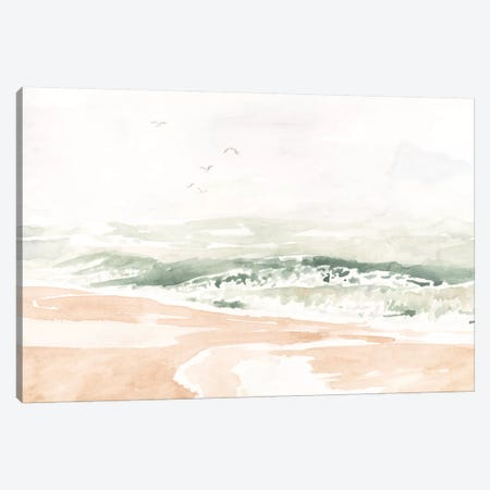 Sandy Surf I Canvas Print #VBO841} by Victoria Borges Canvas Art Print