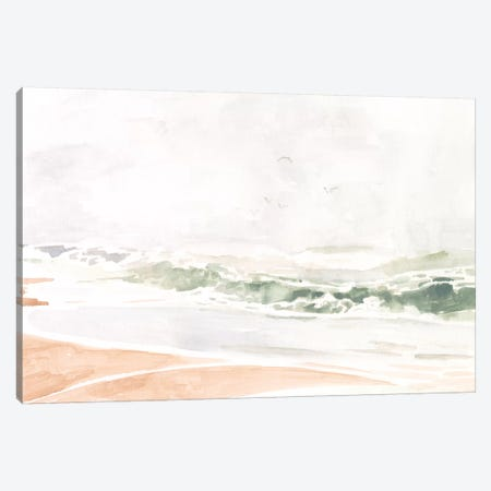 Sandy Surf II Canvas Print #VBO842} by Victoria Borges Art Print