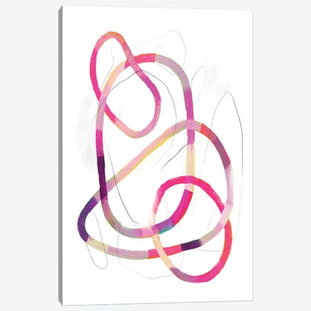 Polychrome Tangle IV Canvas Print #VBO84} by Victoria Borges Canvas Wall Art