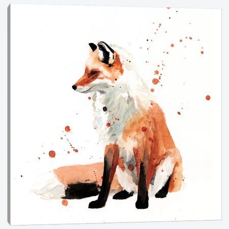 Watercolor Fox I Canvas Print #VBO865} by Victoria Borges Canvas Artwork