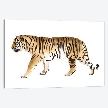 Watercolor Tiger III Canvas Print #VBO869} by Victoria Borges Art Print