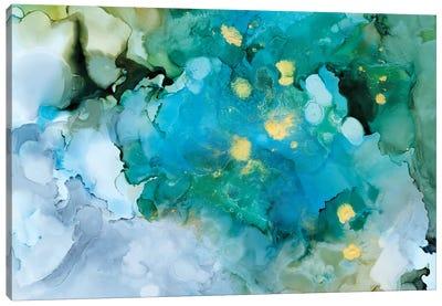 Aqua Brume I Canvas Art Print