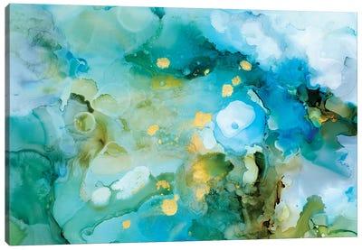 Aqua Brume II Canvas Art Print