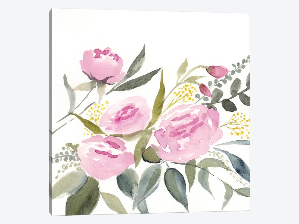 Rosebud Watercolor I by Victoria Borges 1-piece Canvas Wall Art