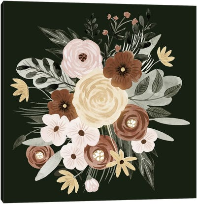 Earthy Bouquet II Canvas Art Print