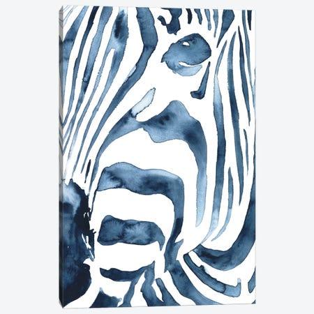 Indigo Zebra II Canvas Print #VBO905} by Victoria Borges Canvas Print