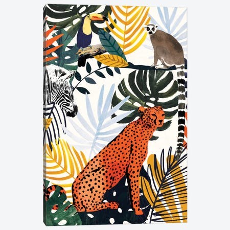 Jungle Jumble I Canvas Print #VBO906} by Victoria Borges Art Print