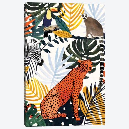 Jungle Jumble I Canvas Print #VBO906} by Victoria Borges Art Print