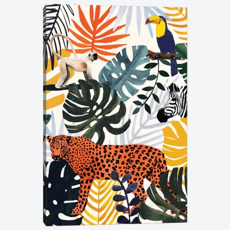 Jungle Jumble II Canvas Print #VBO907} by Victoria Borges Art Print