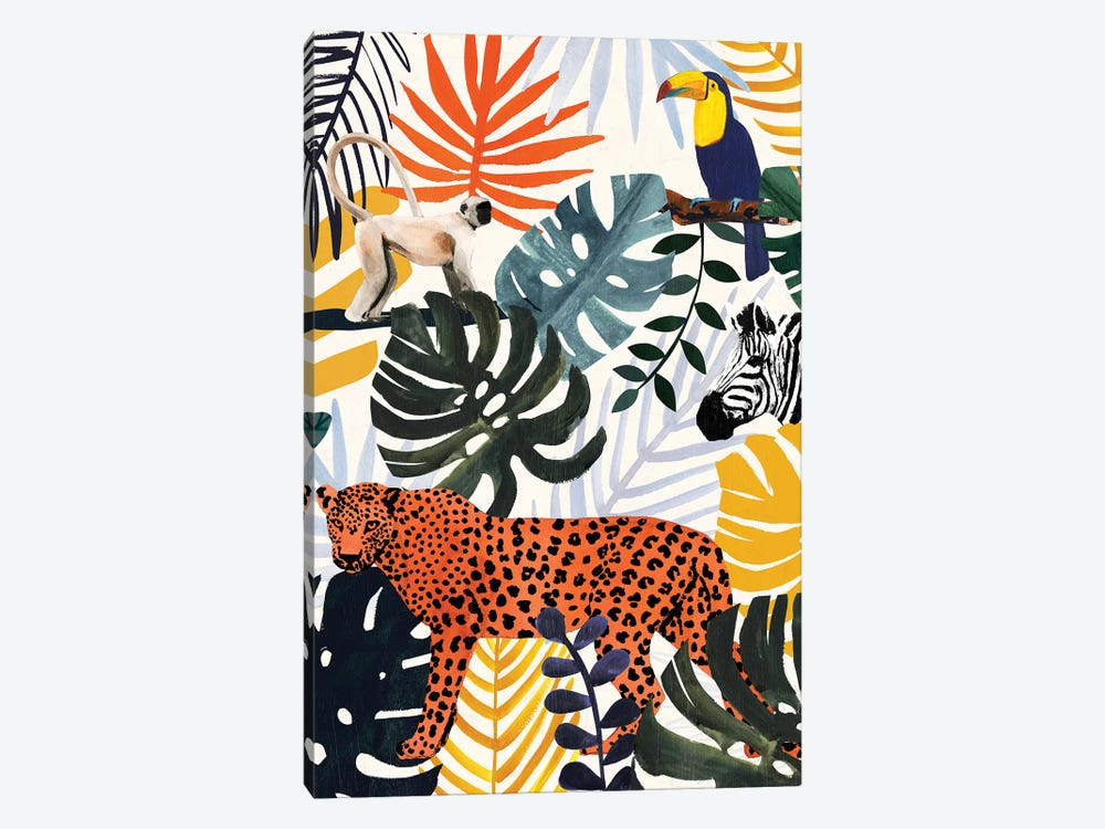 Jungle Jumble II by Victoria Borges 1-piece Canvas Wall Art