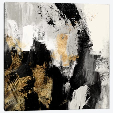 Neutral Gold Collage I Canvas Print #VBO918} by Victoria Borges Canvas Art Print