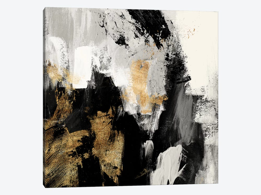 Neutral Gold Collage I by Victoria Borges 1-piece Canvas Art