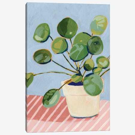 Plant on Pink I Canvas Print #VBO948} by Victoria Borges Canvas Artwork