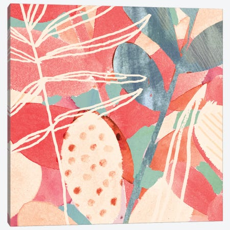 Tropical Assemblage II Canvas Print #VBO96} by Victoria Borges Art Print