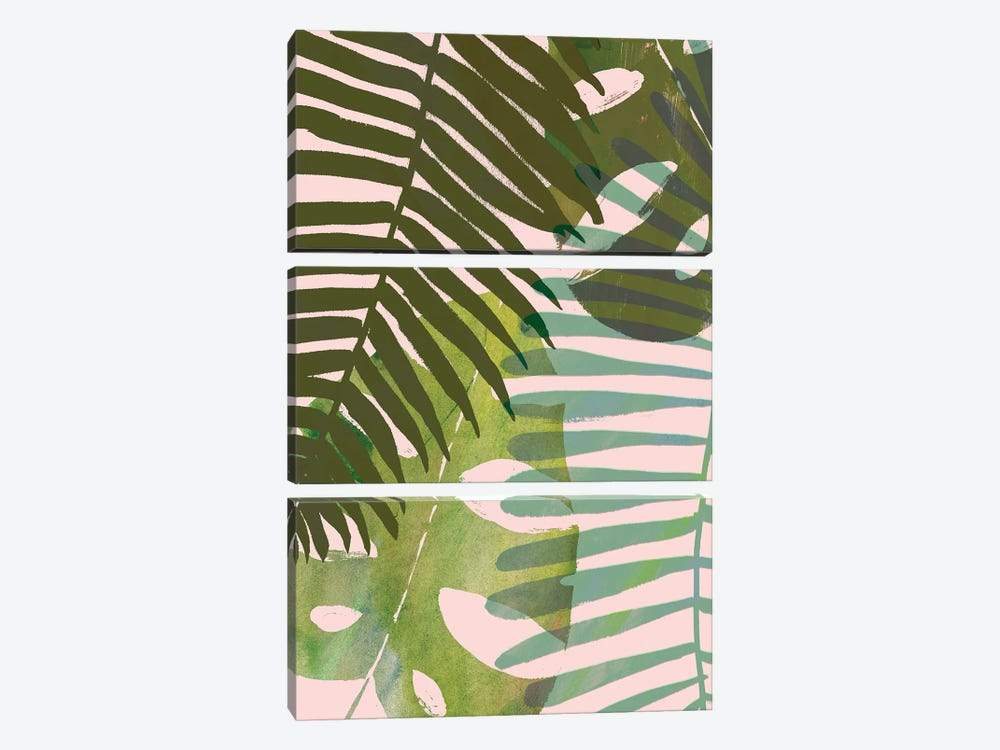 Tropical Tangle I by Victoria Borges 3-piece Canvas Print