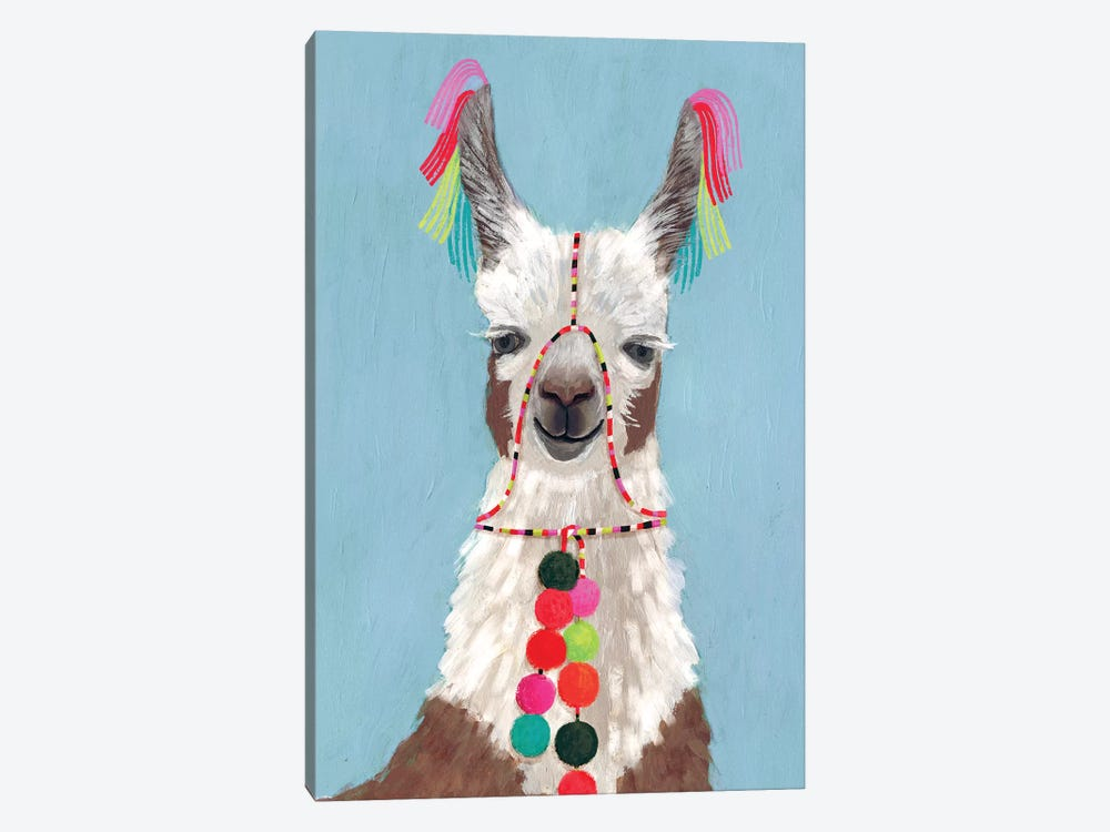 Adorned Llama I by Victoria Borges 1-piece Canvas Wall Art
