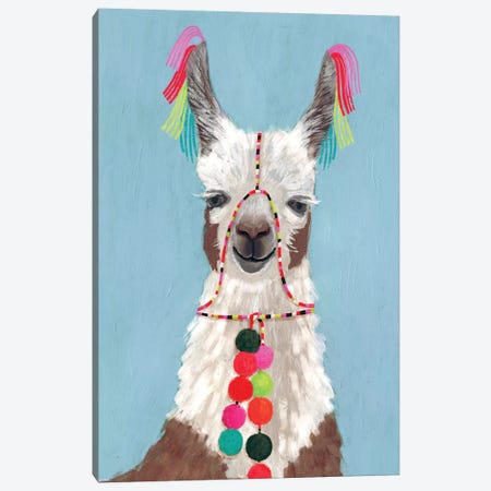 Adorned Llama I Canvas Print #VBO9} by Victoria Borges Art Print