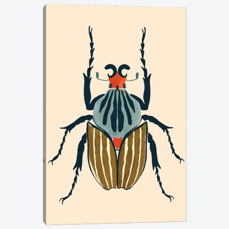 Beetle Bug I Canvas Print #VBR101} by Victoria Barnes Canvas Wall Art
