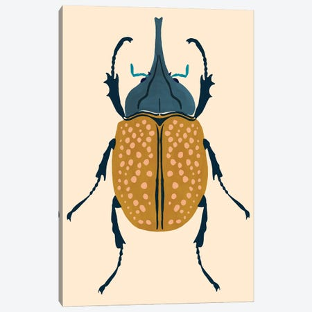 Beetle Bug II Canvas Print #VBR102} by Victoria Barnes Canvas Artwork