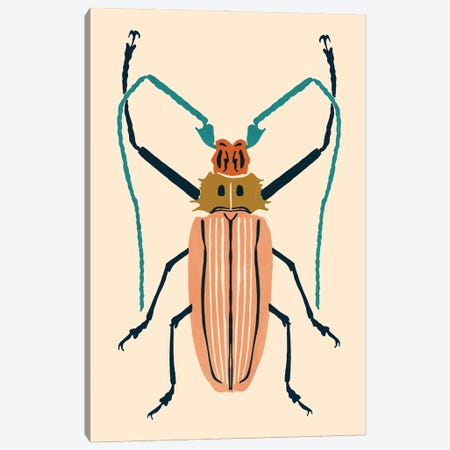 Beetle Bug IV Canvas Print #VBR104} by Victoria Barnes Canvas Print