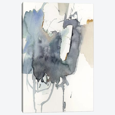 Indigo Splatter I Canvas Print #VBR109} by Victoria Barnes Canvas Art