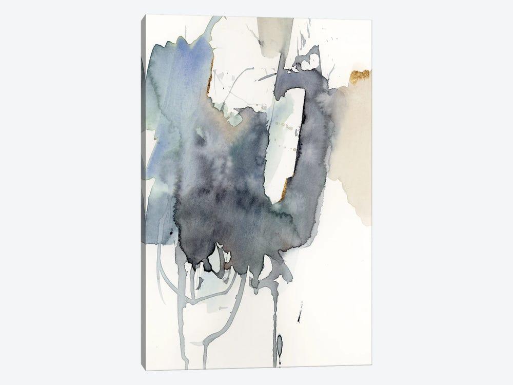 Indigo Splatter I by Victoria Barnes 1-piece Canvas Artwork