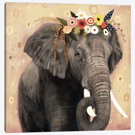 Klimt Elephant I Canvas Print #VBR11} by Victoria Barnes Art Print