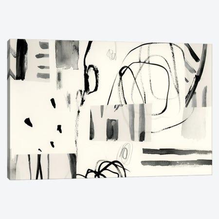 Neutral Patchwork I Canvas Print #VBR121} by Victoria Barnes Canvas Artwork