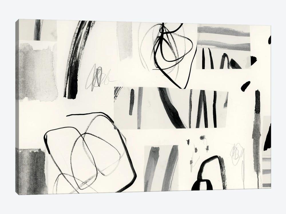 Neutral Patchwork II by Victoria Barnes 1-piece Art Print