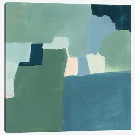 Teal and Sage I Canvas Print #VBR131} by Victoria Barnes Canvas Art Print