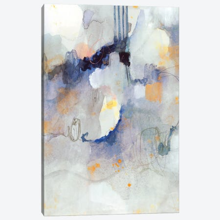 Watercolor Tatter I Canvas Print #VBR135} by Victoria Barnes Canvas Artwork