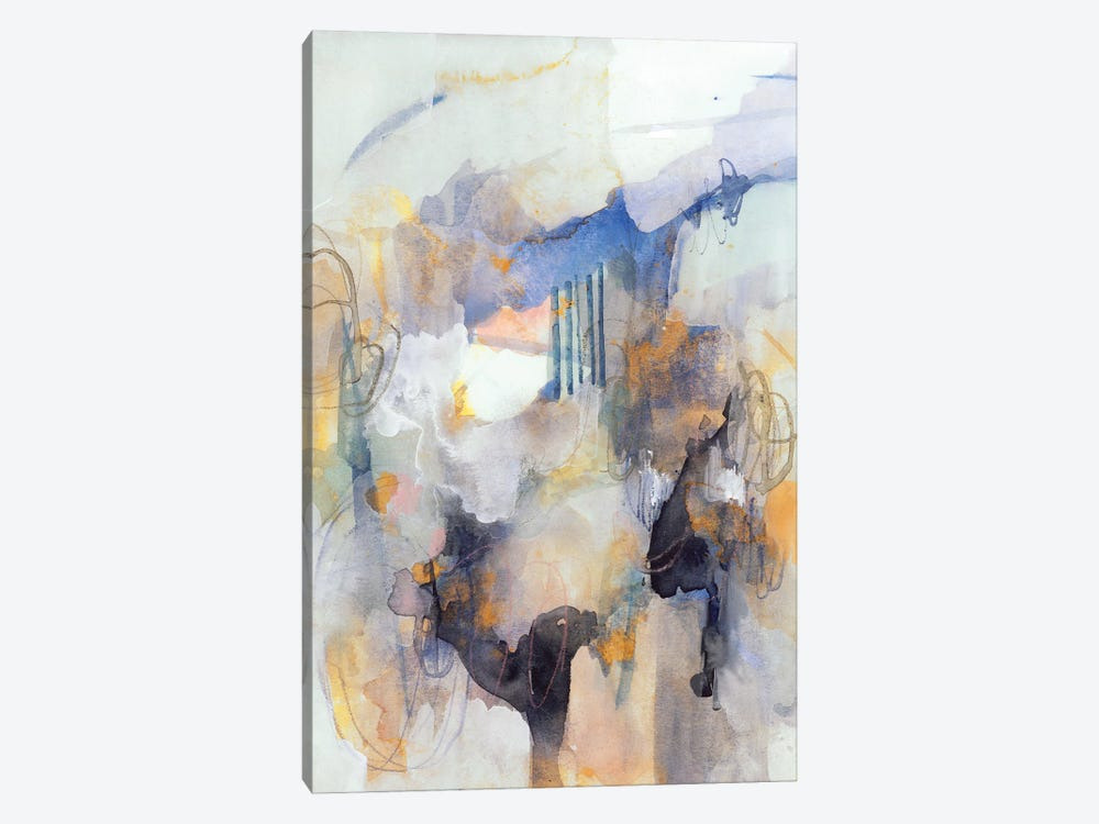 Watercolor Tatter IV by Victoria Barnes 1-piece Canvas Art